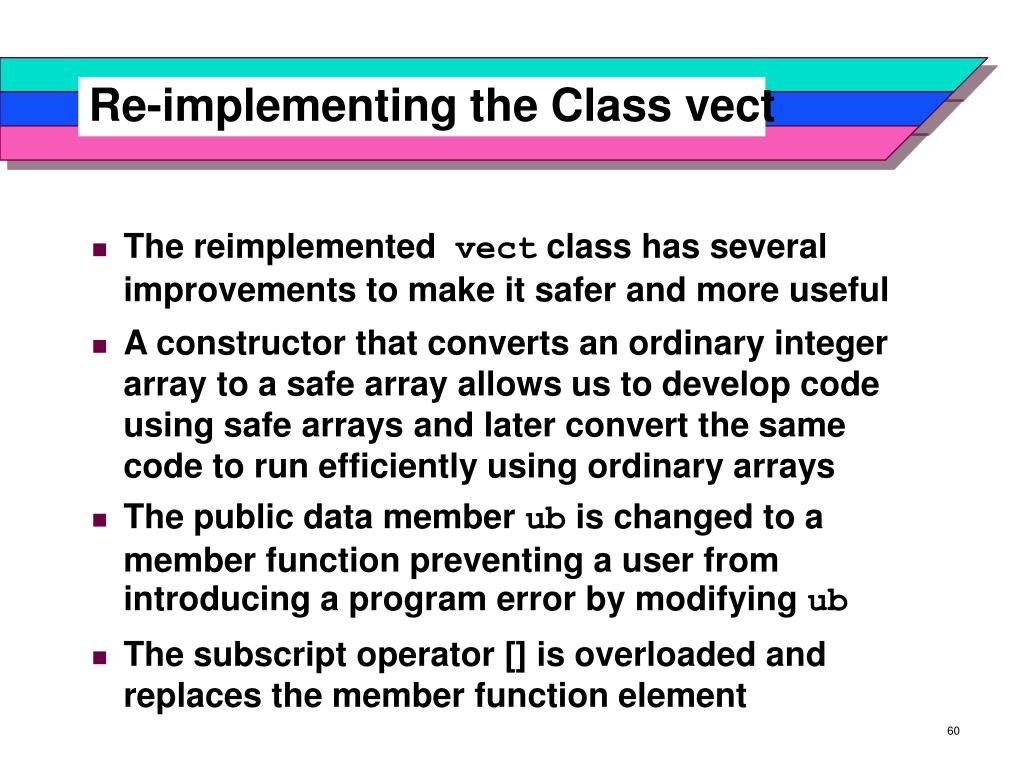Re-implementing the Class vect