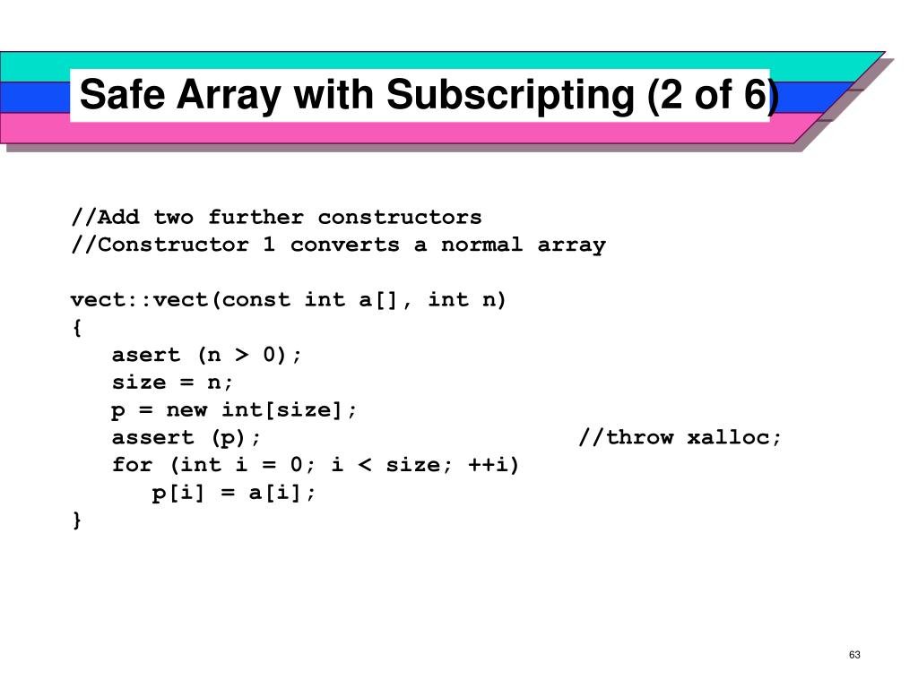 Safe Array with Subscripting (2 of 6)