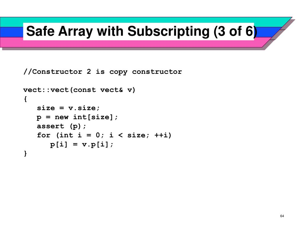 Safe Array with Subscripting (3 of 6)
