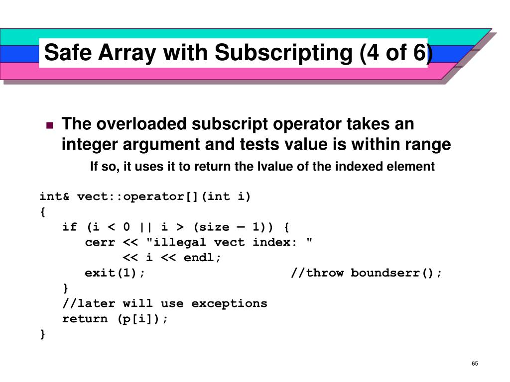 Safe Array with Subscripting (4 of 6)