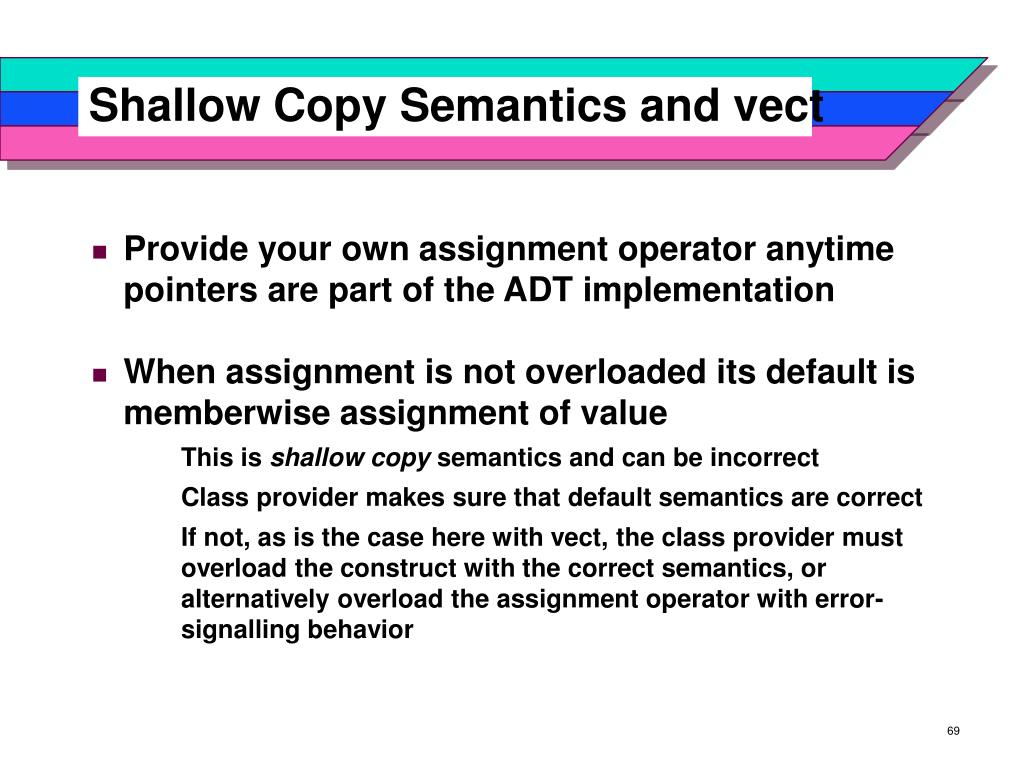 Shallow Copy Semantics and vect