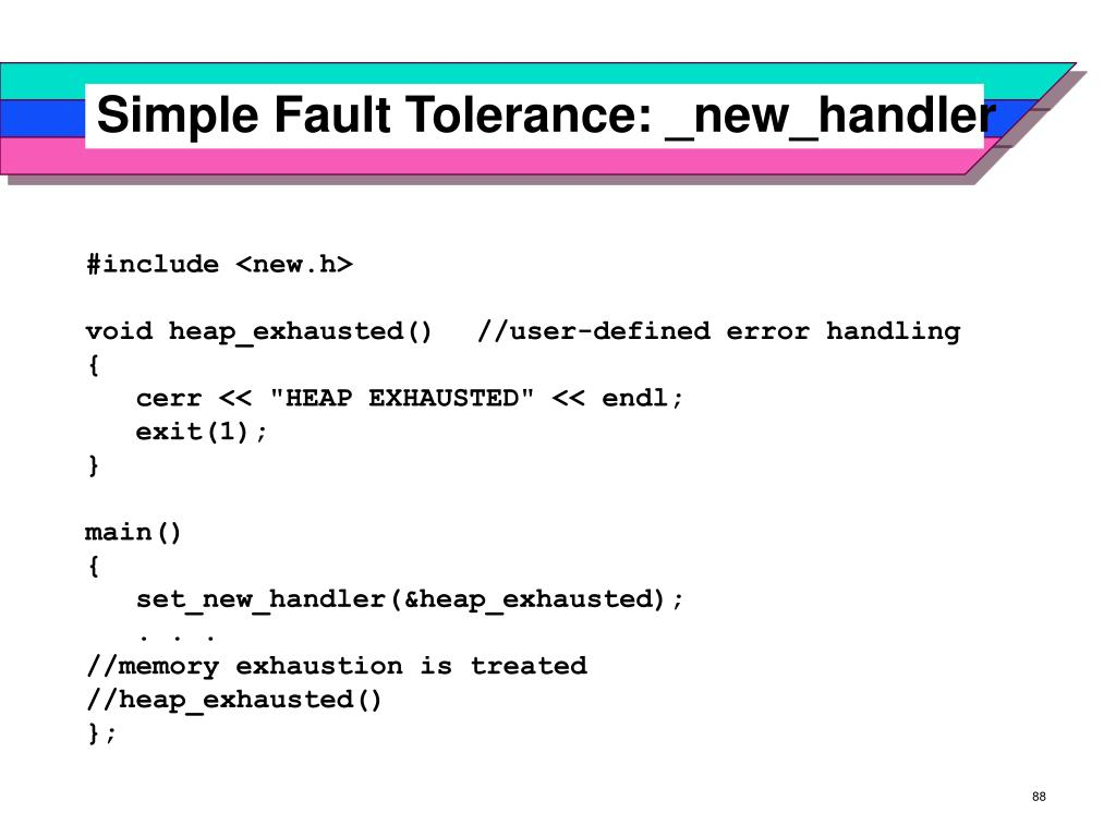 Simple Fault Tolerance: _new_handler