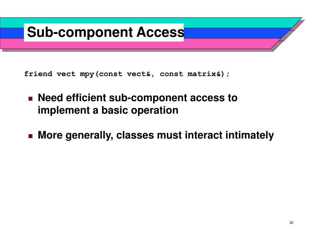 Sub-component Access