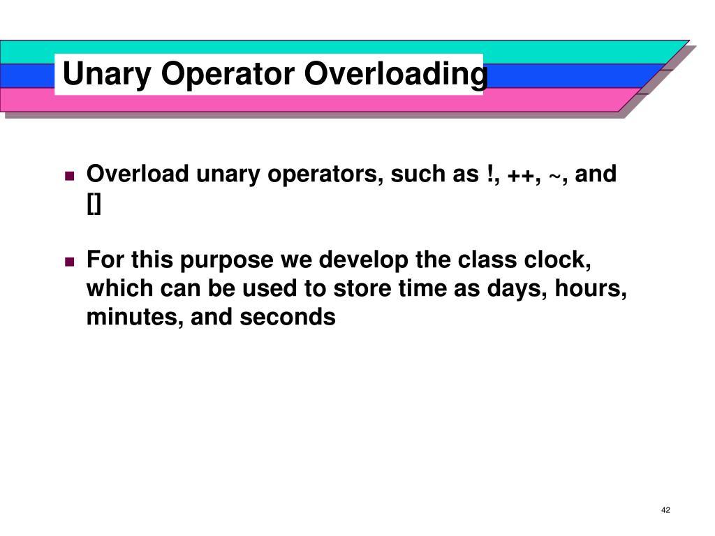 Unary Operator Overloading
