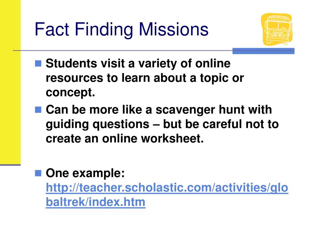 Fact Finding Missions