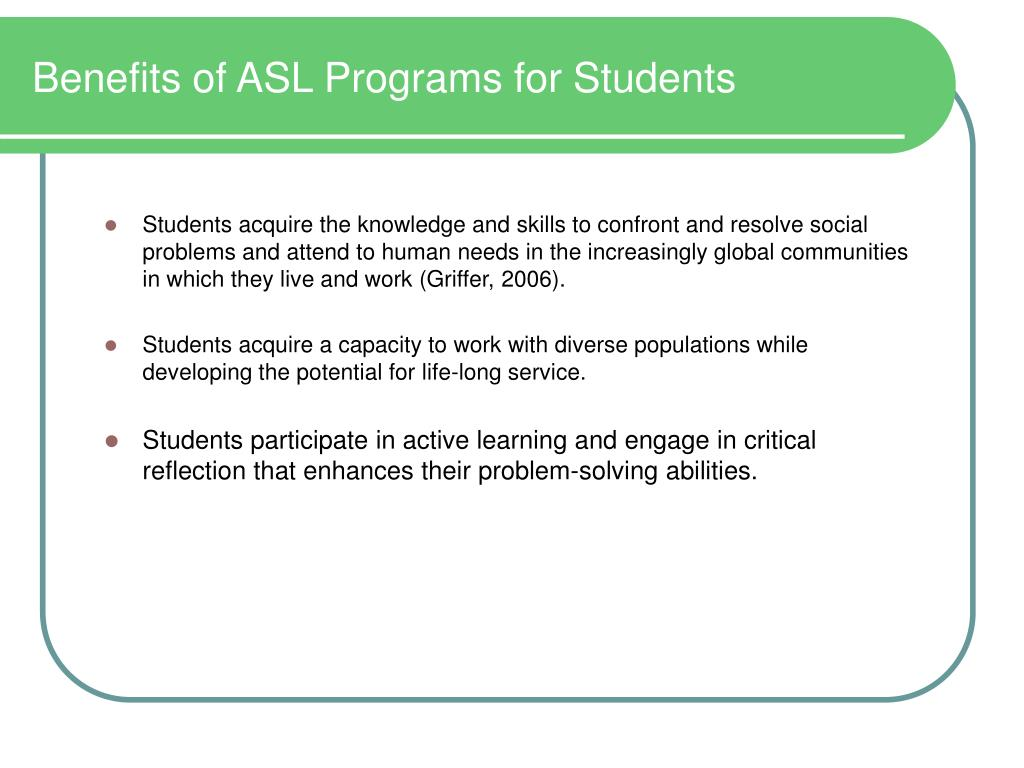 Benefits of ASL Programs for Students