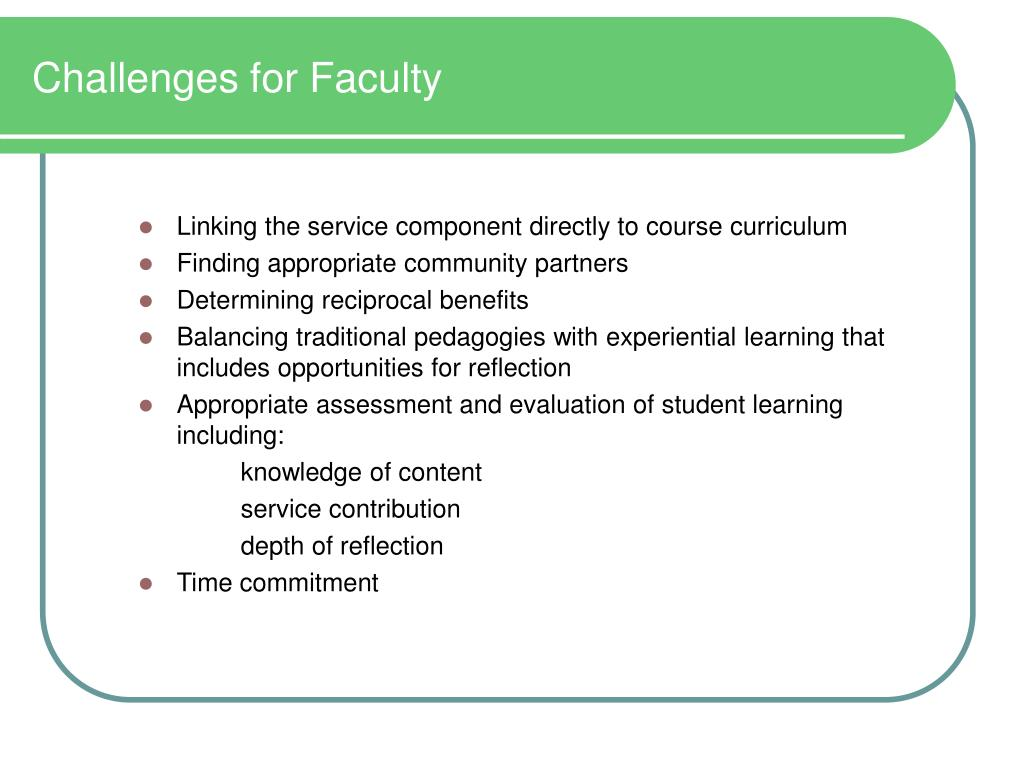 Challenges for Faculty