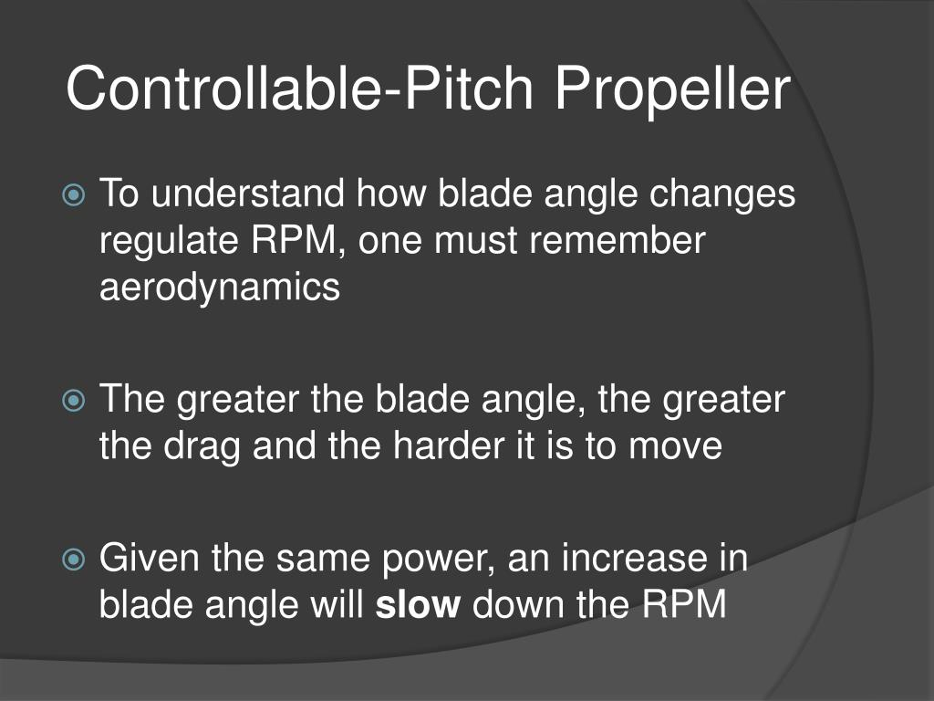 Controllable-Pitch Propeller