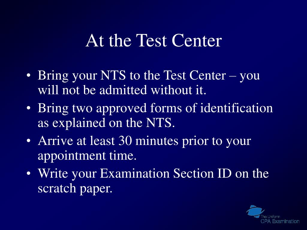 At the Test Center