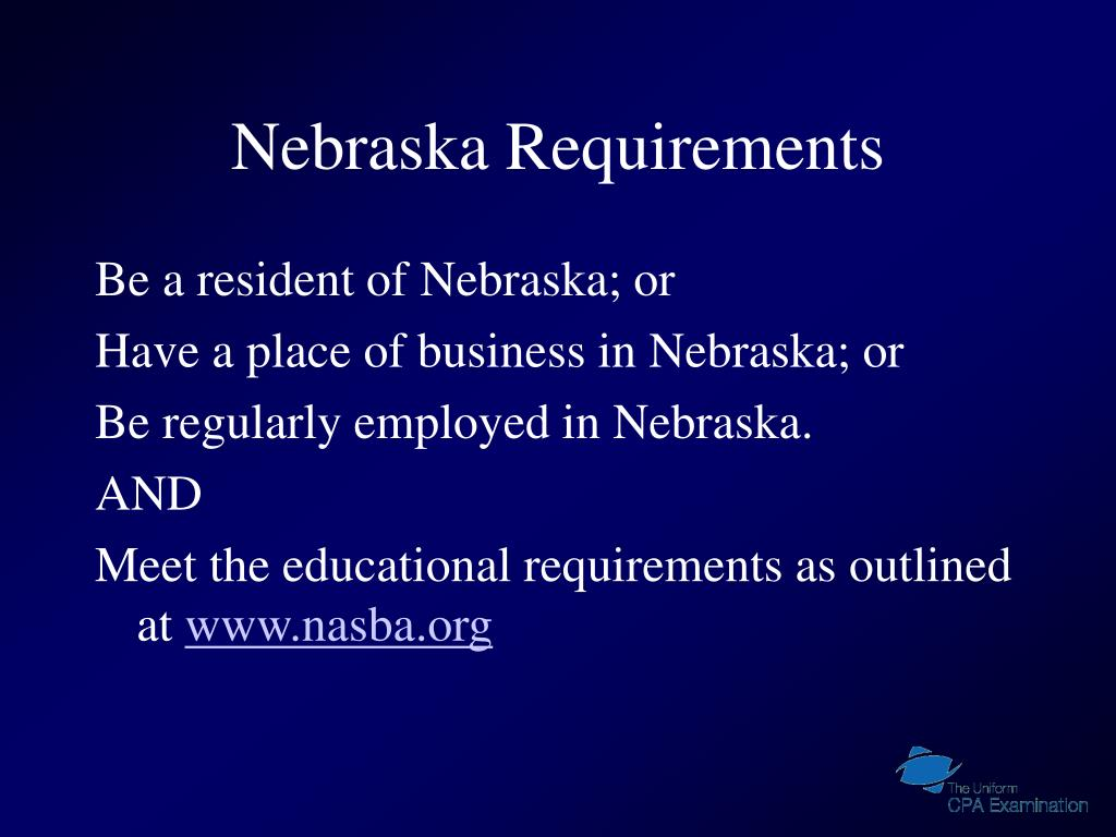 Nebraska Requirements