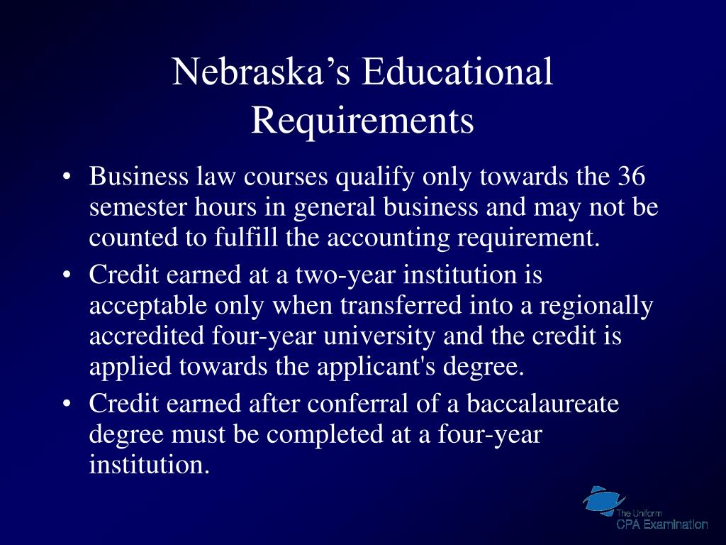Nebraska's Educational Requirements