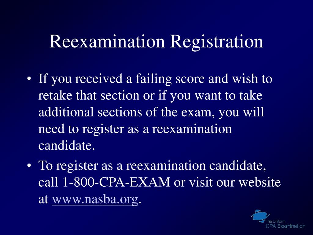 Reexamination Registration