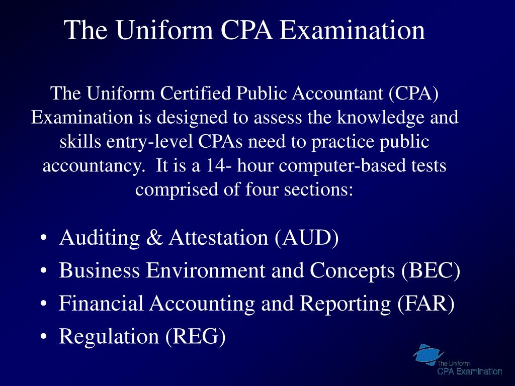 The Uniform CPA Examination