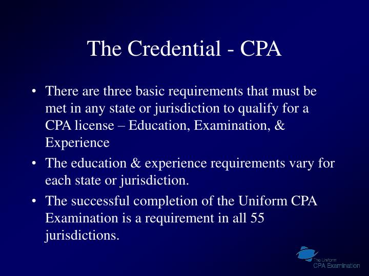 The credential cpa3