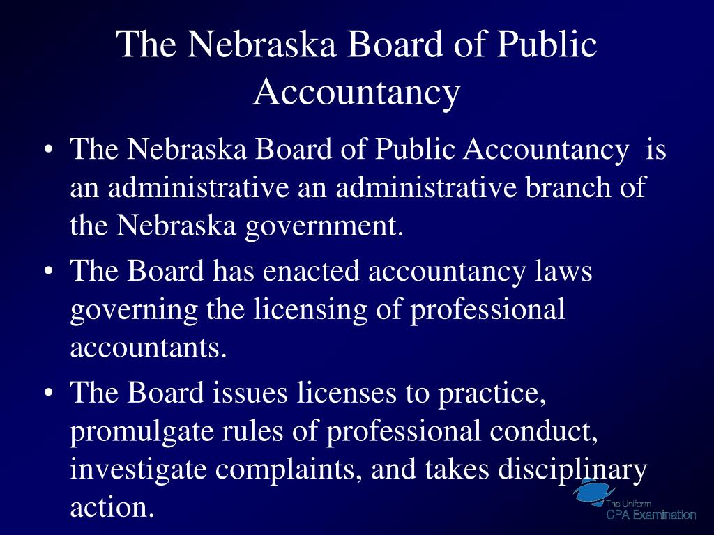 The Nebraska Board of Public Accountancy