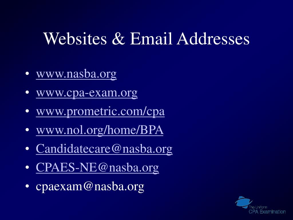 Websites & Email Addresses
