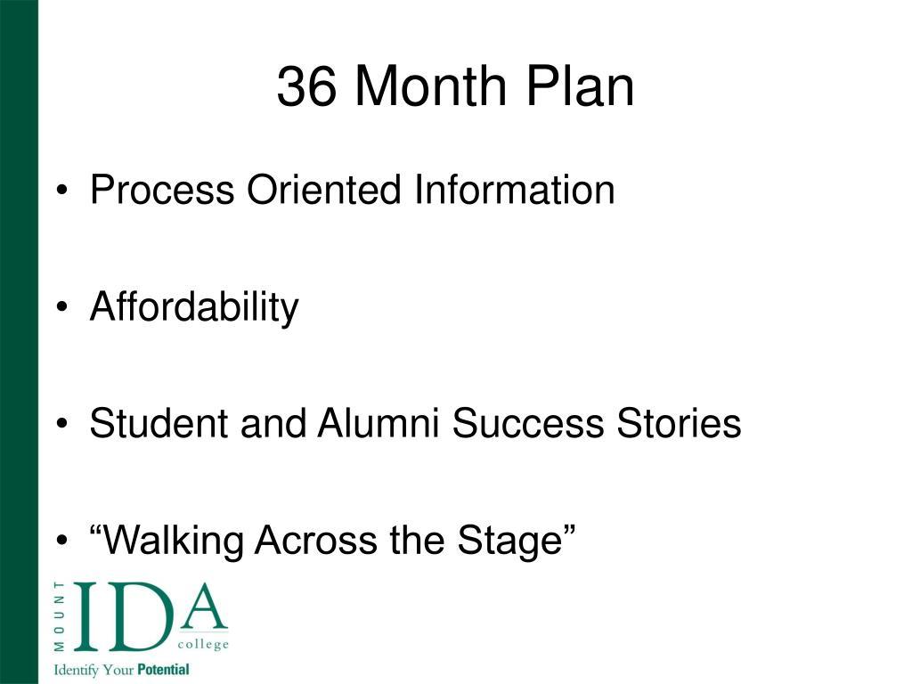 36 Month Plan