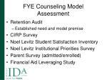 fye counseling model assessment