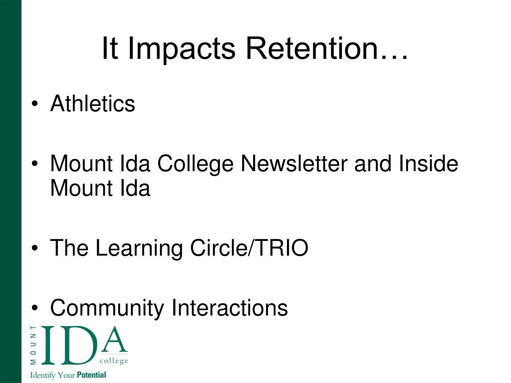 It Impacts Retention…