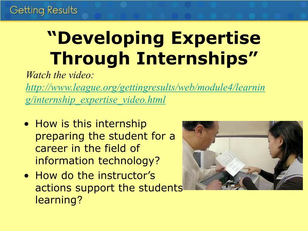 """""""Developing Expertise Through Internships"""""""
