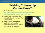 making internship connections