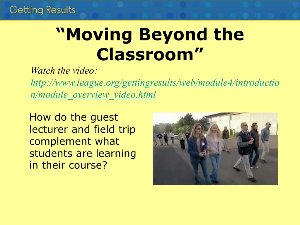 """""""Moving Beyond the Classroom"""""""