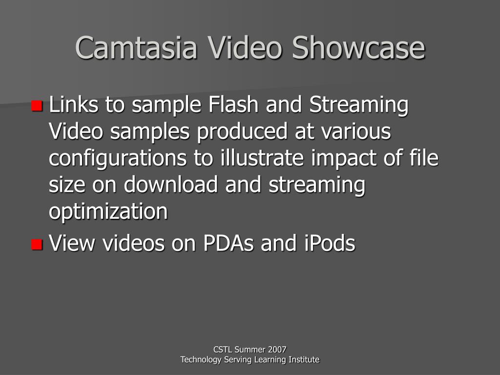 Camtasia Video Showcase