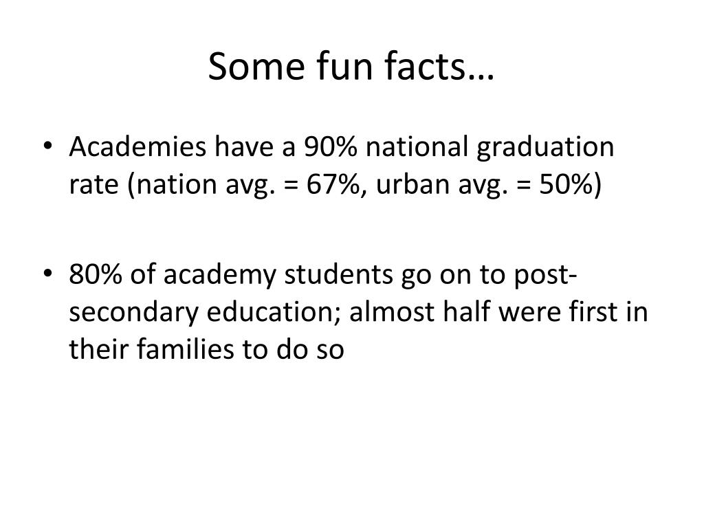 Some fun facts…