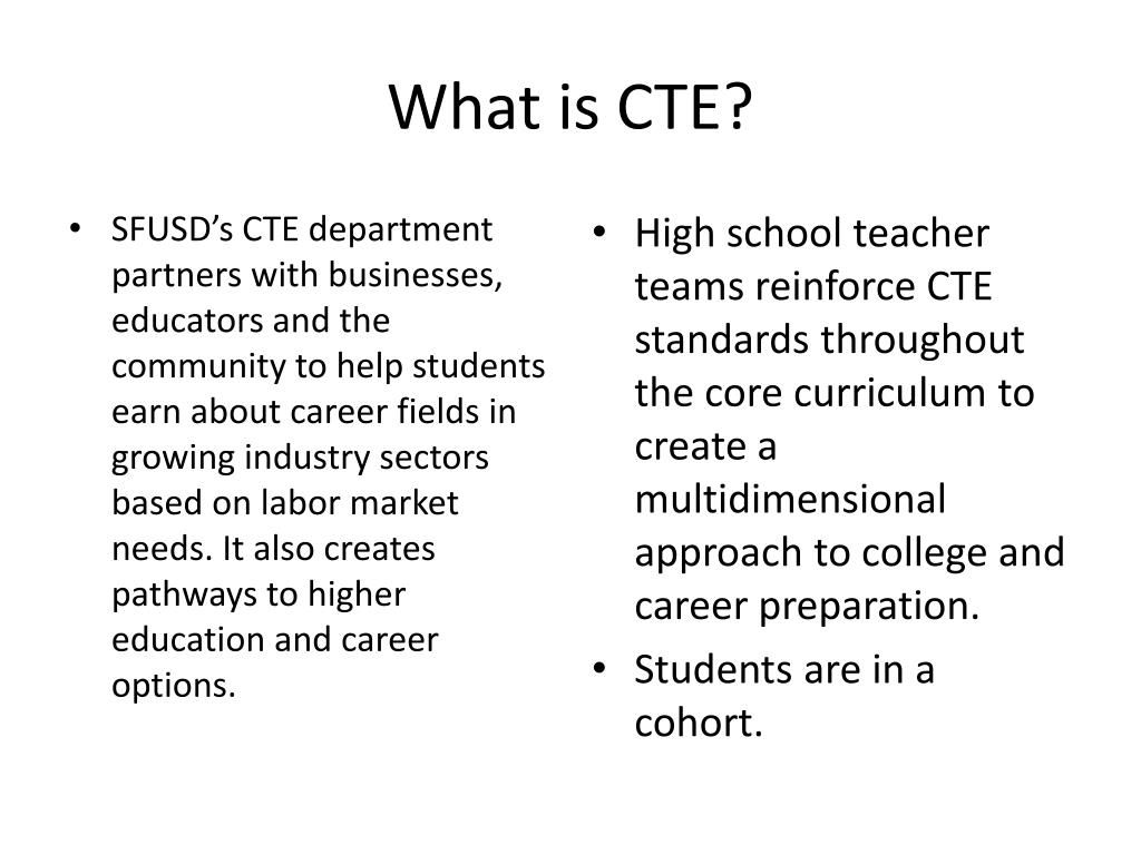 What is CTE?