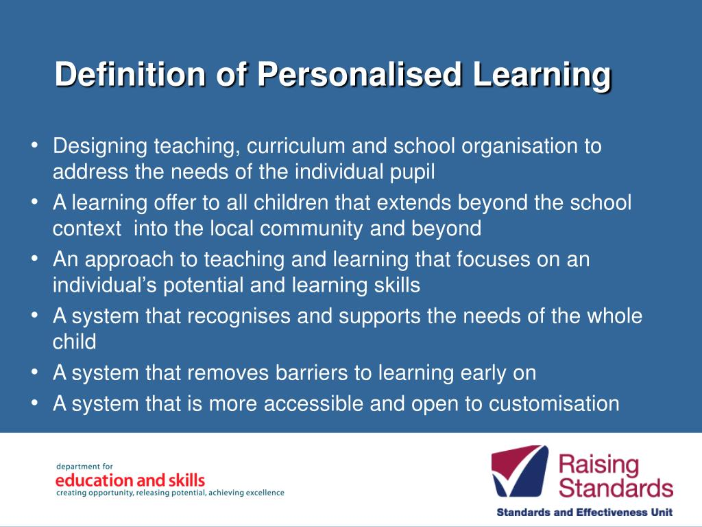 Definition of Personalised Learning
