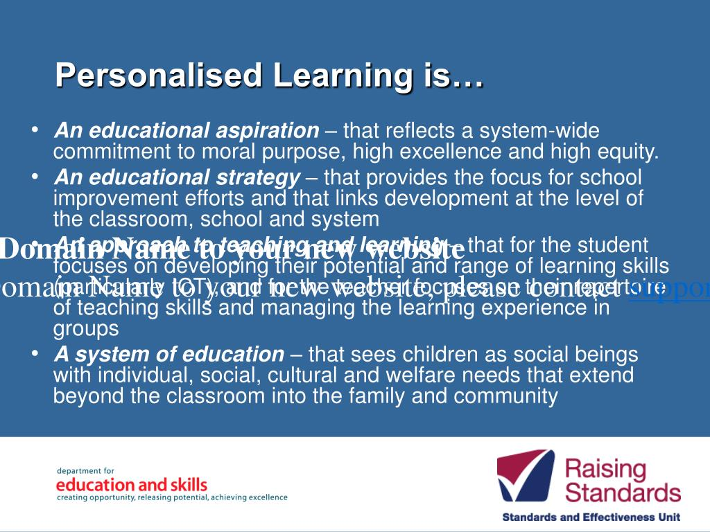 Personalised Learning is…