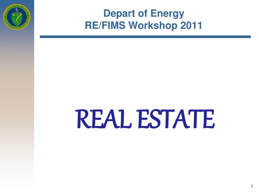 depart of energy re fims workshop 2011