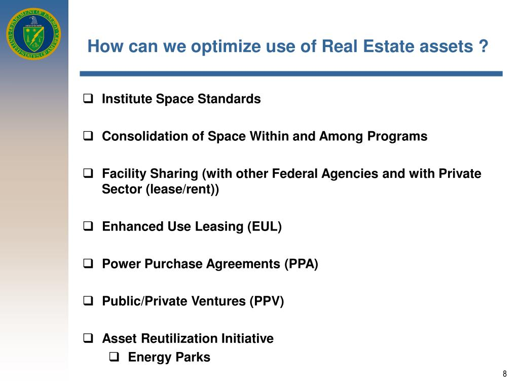 How can we optimize use of Real Estate assets ?