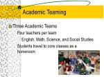 academic teaming