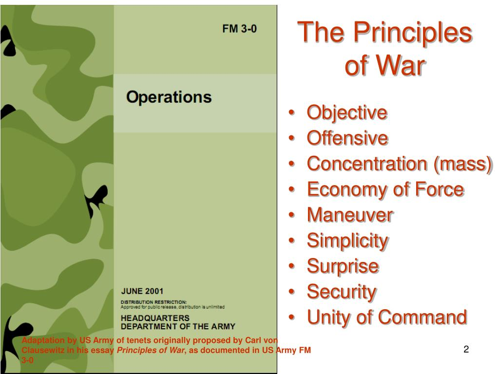 Principles of war essay contest