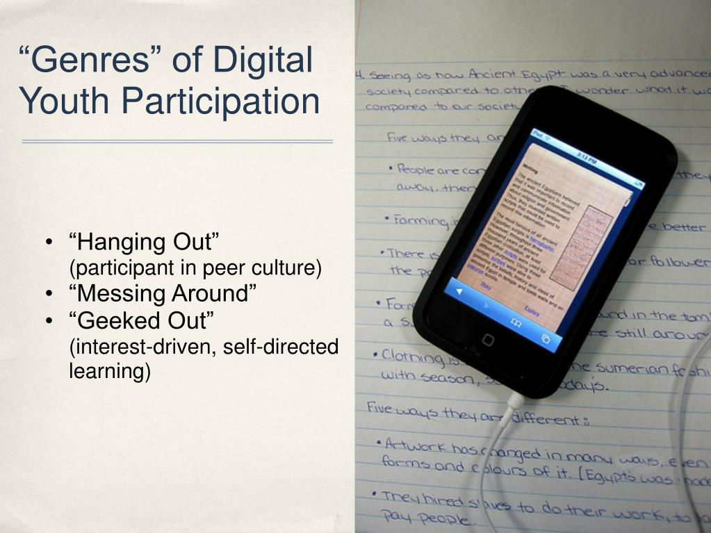 """Genres"" of Digital Youth Participation"