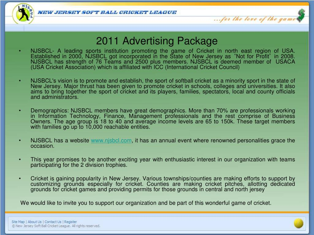 2011 Advertising Package