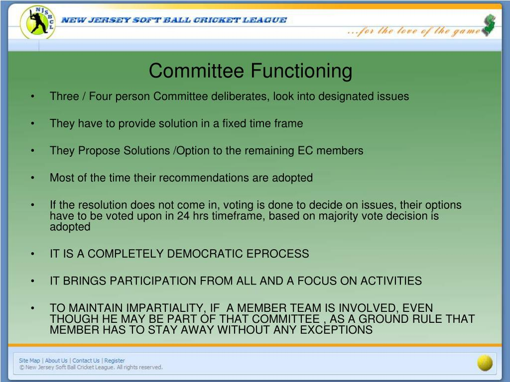 Committee Functioning