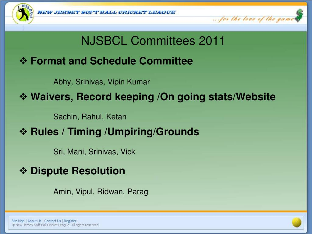 NJSBCL Committees 2011