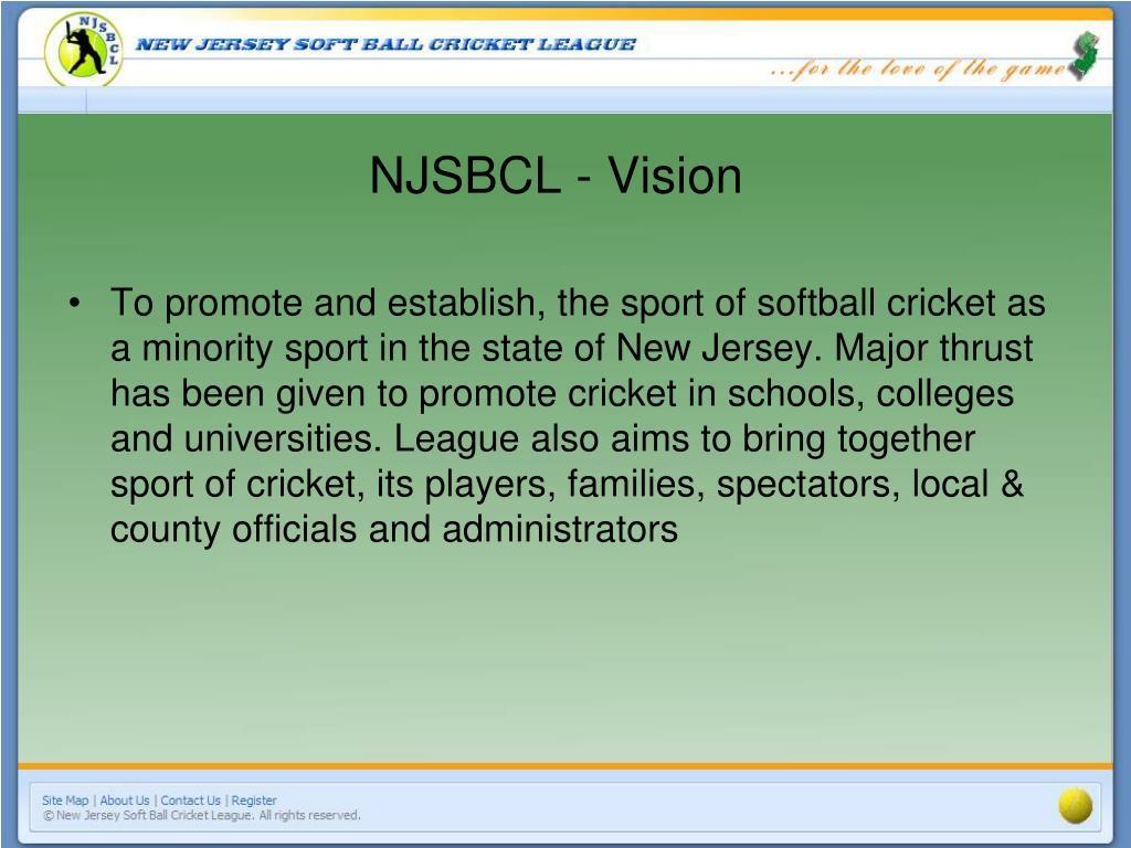 NJSBCL - Vision