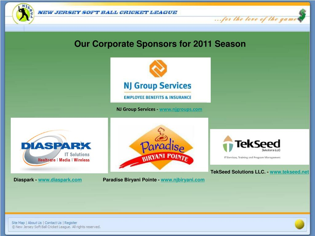 Our Corporate Sponsors for 2011 Season