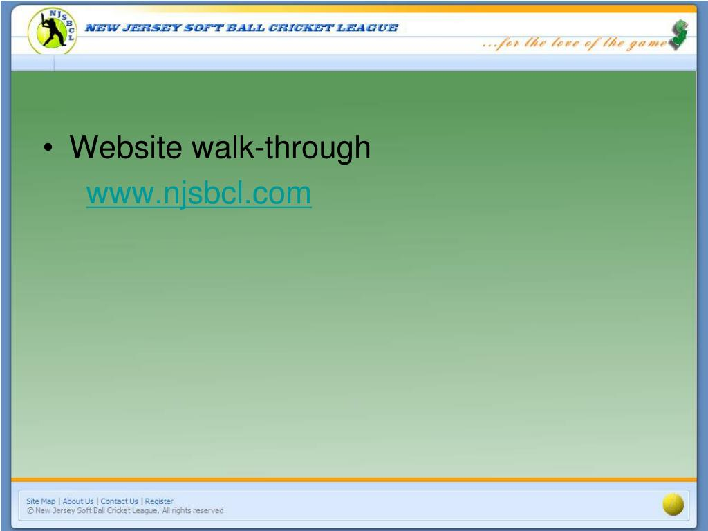 Website walk-through