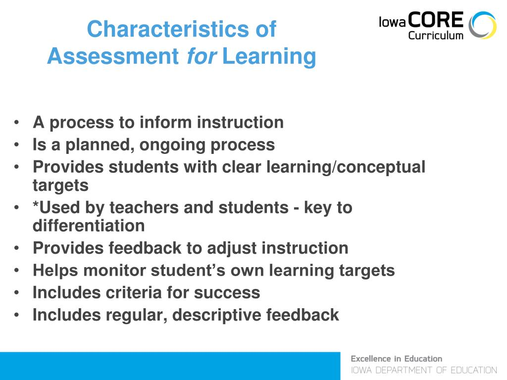 Characteristics of Assessment