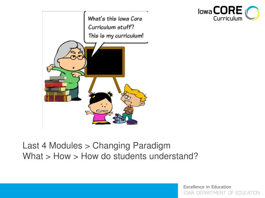 Last 4 Modules > Changing Paradigm
