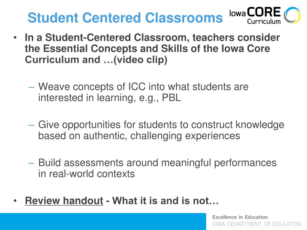 Student Centered Classrooms