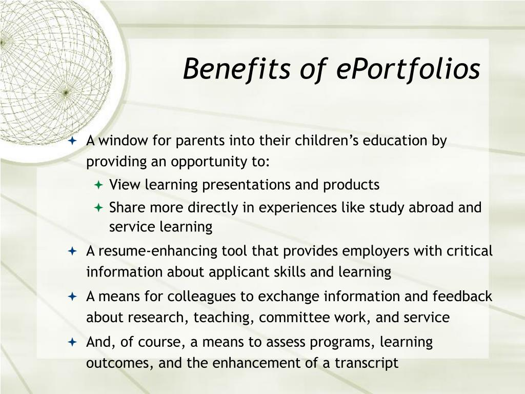Benefits of ePortfolios