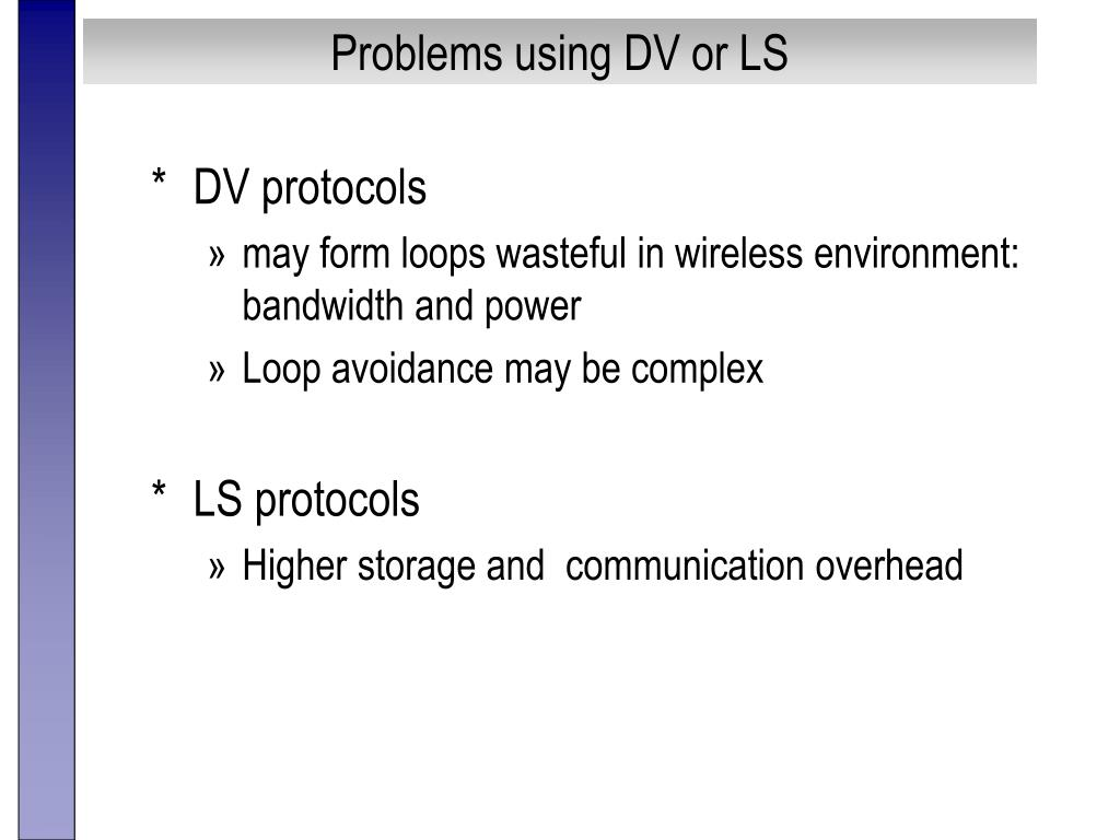 Problems using DV or LS