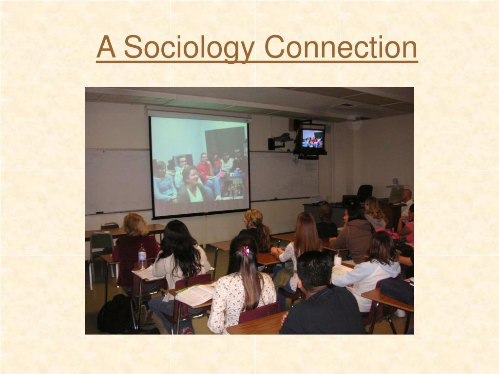 A Sociology Connection