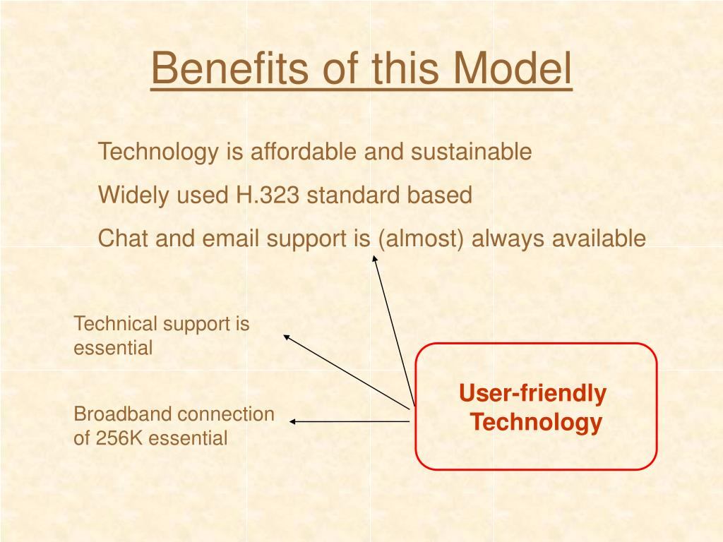 Benefits of this Model