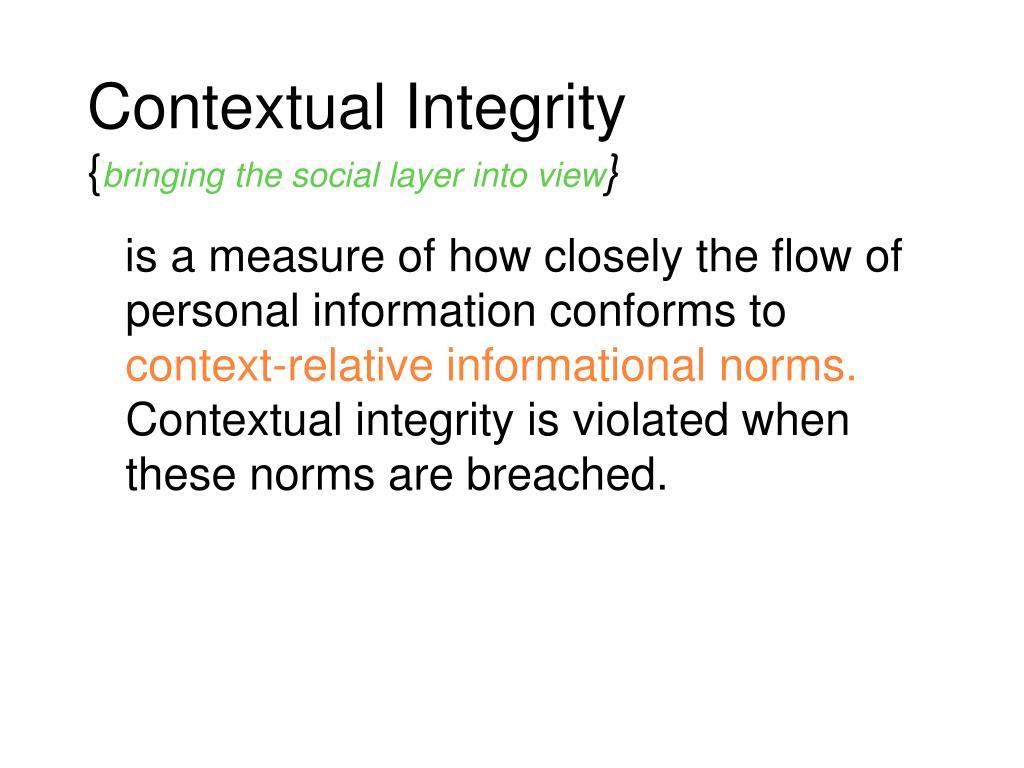 Contextual Integrity
